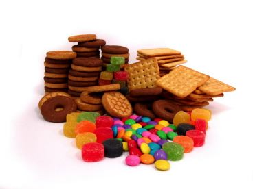 gâteaux et bonbons au placard