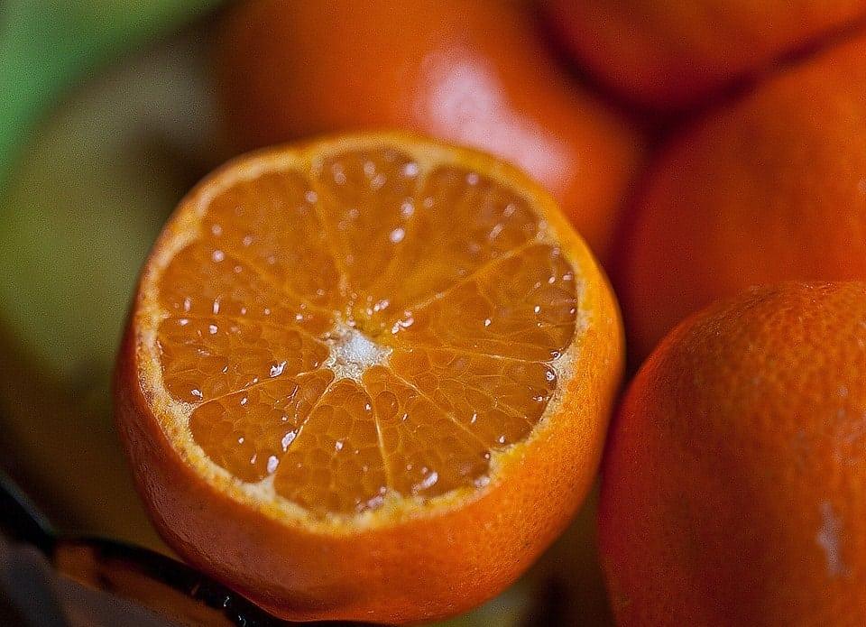 une orange-vue interne